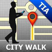 Tirana Map and Walks