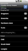 Screenshot of OurGroceries Key