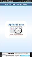 Screenshot of Aptitude Test
