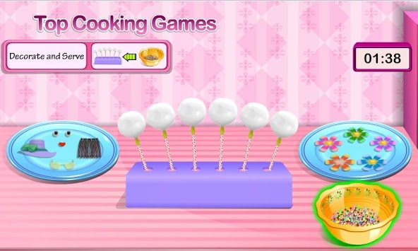 Mothers Day Cake Pops Cooking Games