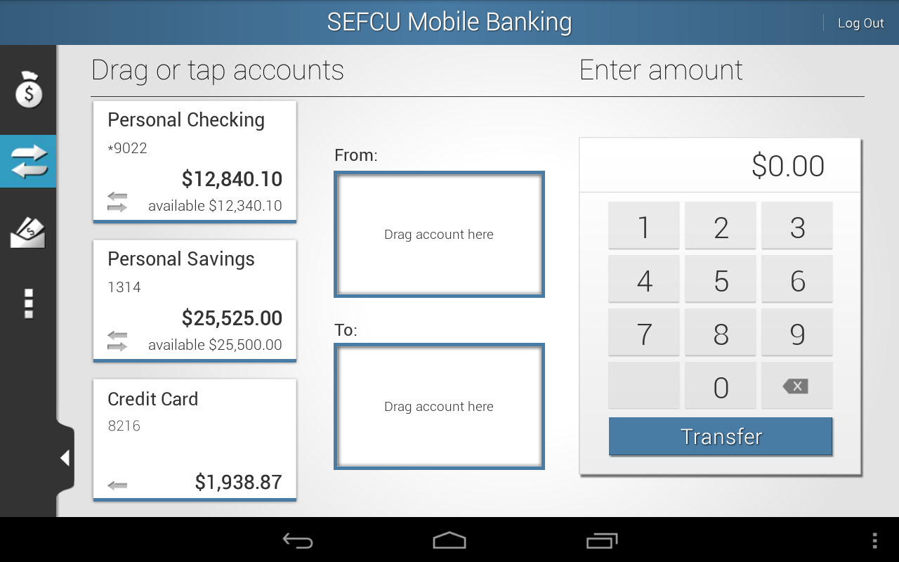 SEFCU Mobile Banking - screenshot
