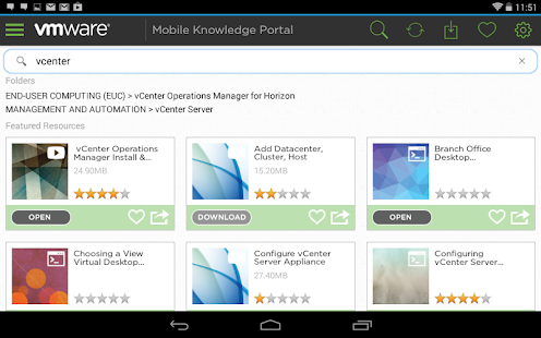 VMware Mobile Knowledge Portal - screenshot thumbnail