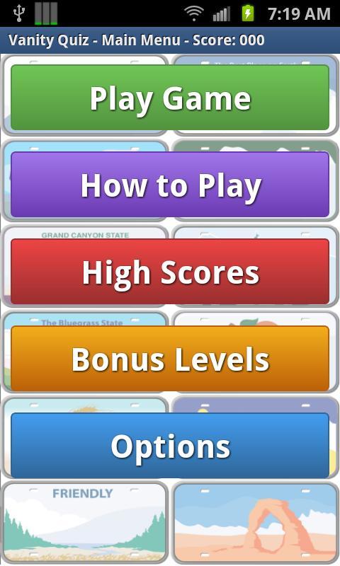 Vanity Quiz Game- screenshot