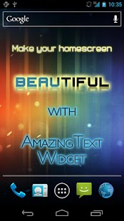 AmazingText FREE - Text Widget- screenshot thumbnail