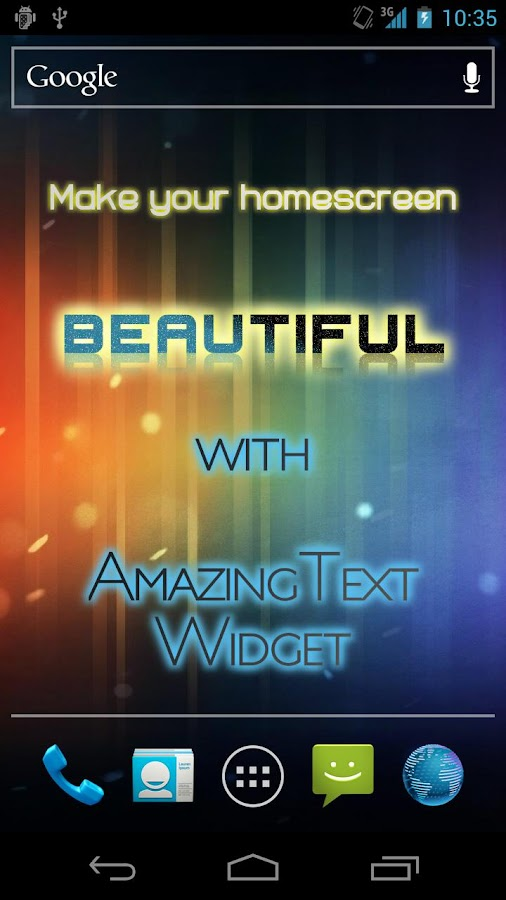 AmazingText FREE - Text Widget- screenshot