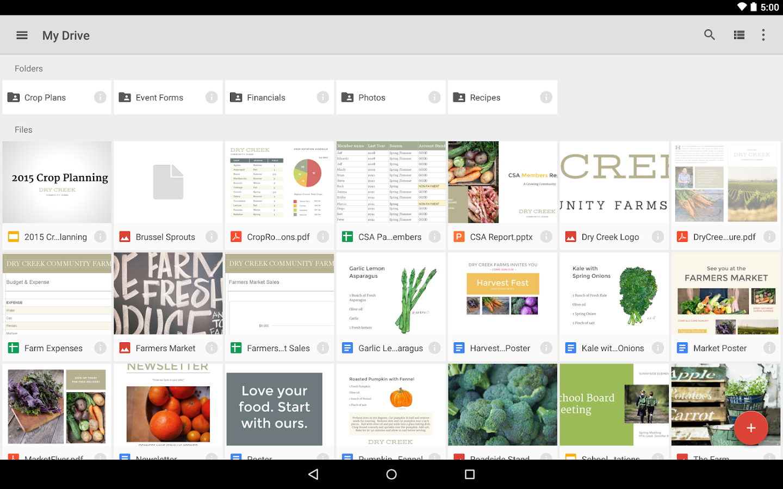 Google Drive - screenshot
