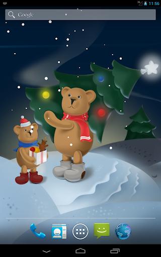玩個人化App|聖誕熊動態壁紙免費|APP試玩
