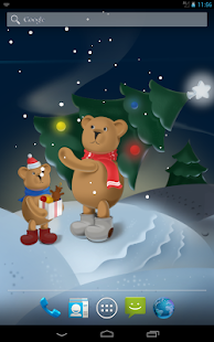 Snowy bears Live Wallpaper HD- screenshot thumbnail