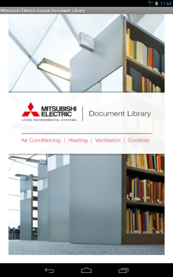 Mitsubishi Electric UK Library- screenshot