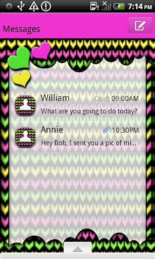 GO SMS THEME PopcicleHearts1