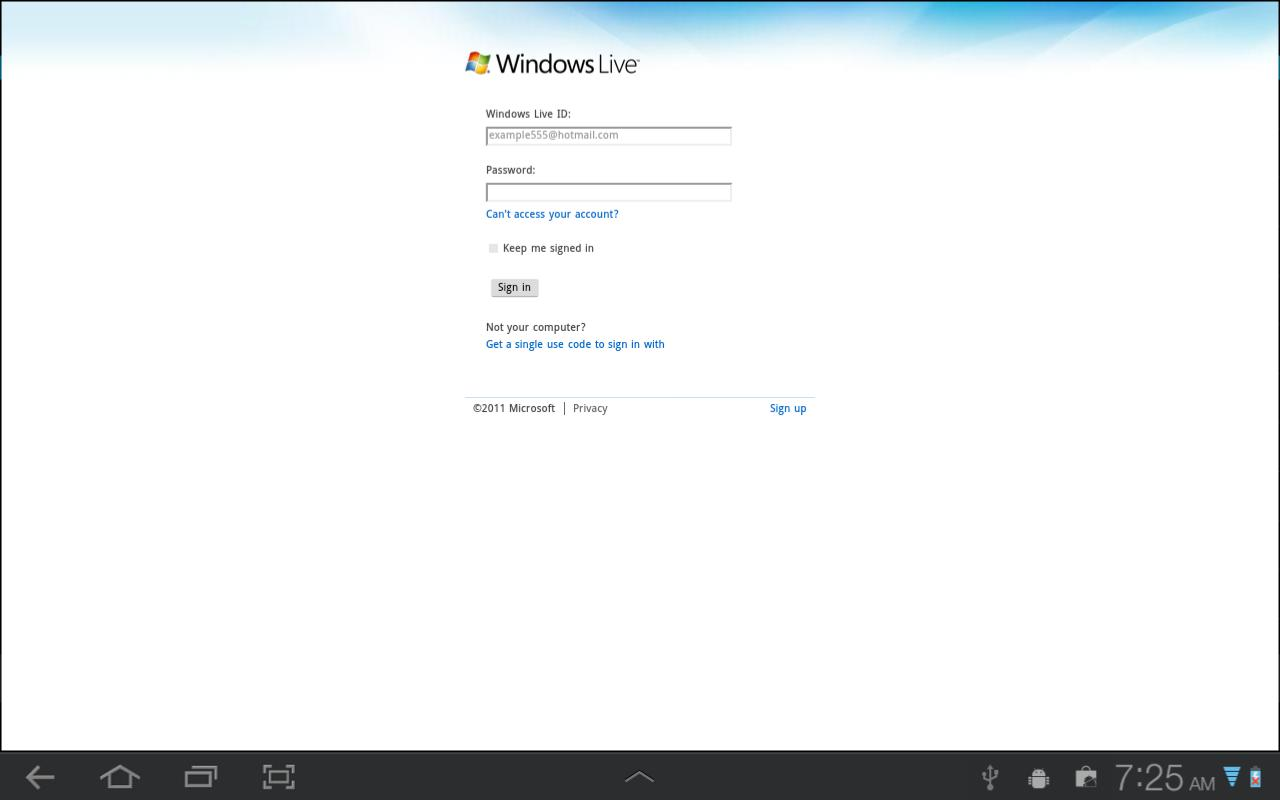 Browser for SkyDrive Pro - screenshot