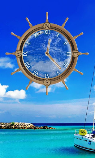 Yacht Travel Compass Clock LWP