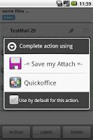 Screenshot of Save my Attach