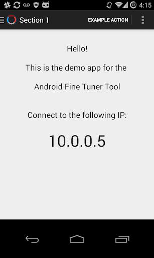 Android Fine Tuner - Demo App