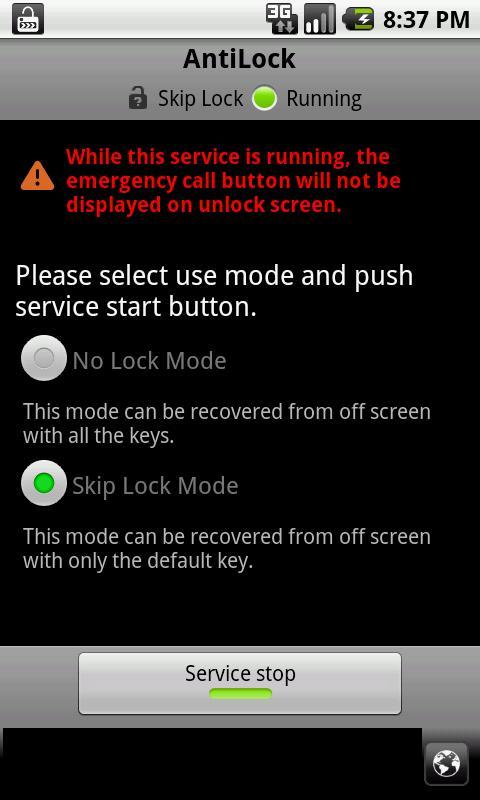 AntiLock - screenshot