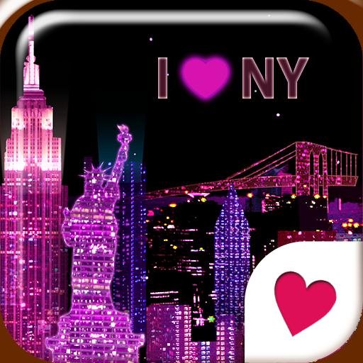 かわいいきせかえ壁紙★I ♥ New York 個人化 App LOGO-APP試玩