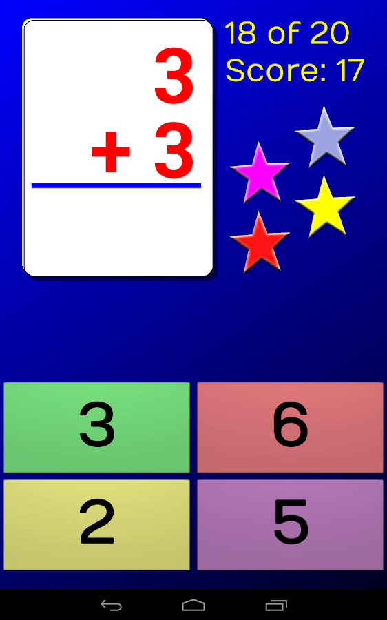 CardDroid Math Flash Cards- screenshot