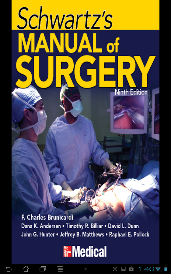 Schwartz's Manual of Surgery - screenshot
