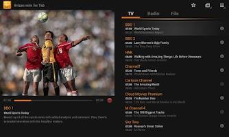 Screenshot of tivizen mini for Tab