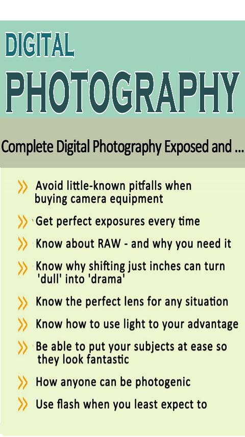 Digital Photography Tip - screenshot