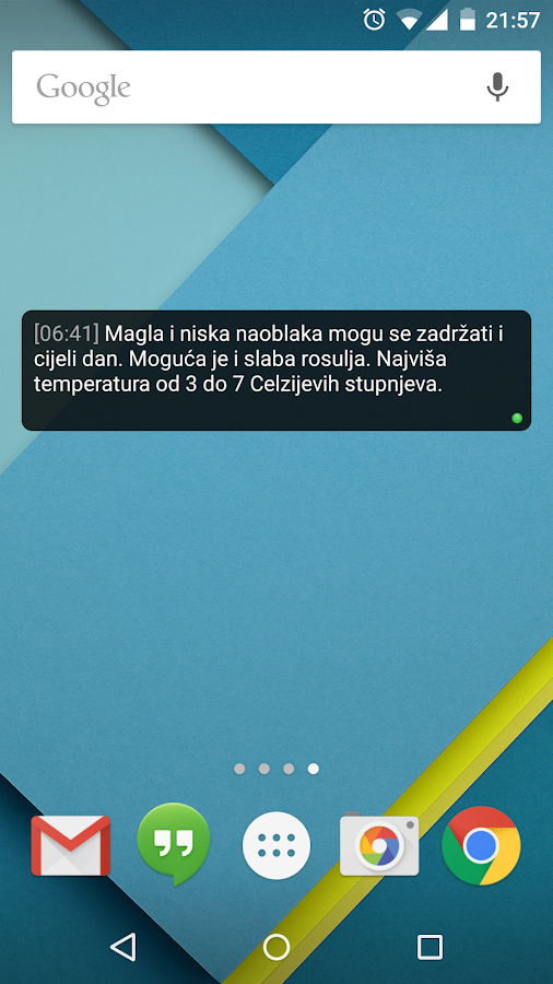 Kad će Kiša (widget)- screenshot