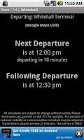 Screenshot of SI Ferry Schedule