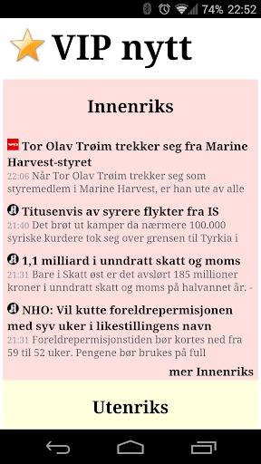 VIP nytt - Alle norske nyheter