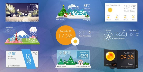 Weather Clock Cool Widget screenshot 1
