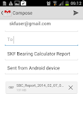 Screenshot of SKF Bearing Calculator