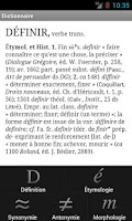 Screenshot of French dictionary TLFi