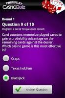 Screenshot of FreePlay Casino Quiz