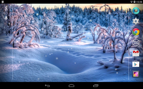 Snowfall Free Live Wallpaper - screenshot thumbnail
