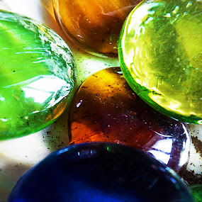 Glass by Alexandra Rafaila - Abstract Macro ( abstract, balls, macro, decorative, color, green, glass, , colorful, mood factory, vibrant, happiness, January, moods, emotions, inspiration )