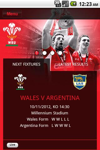 The Official WRU App- screenshot