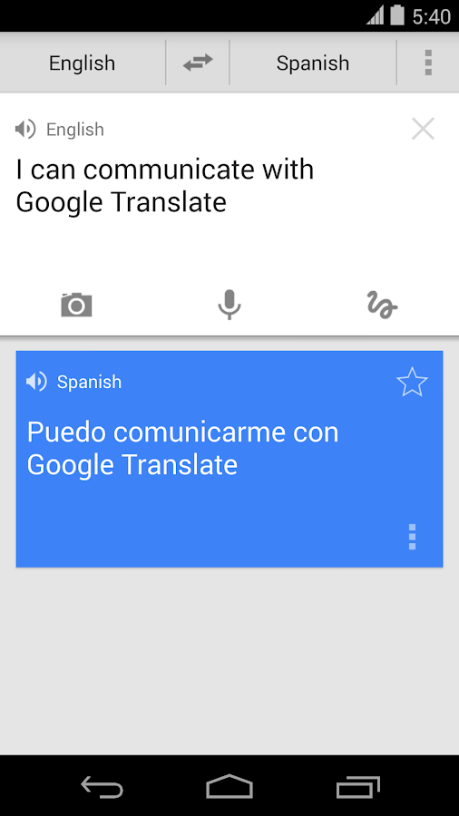 Google Traductor - screenshot