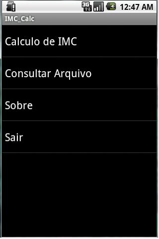 BMI Calc - screenshot