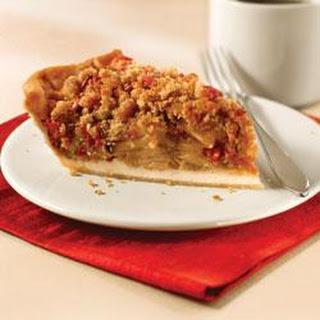 Cranberry-Pear Crumble Pie