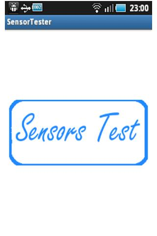 Sensor Tester- screenshot