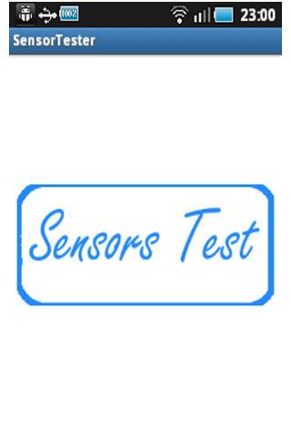 Sensor Tester - screenshot
