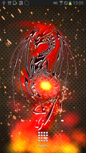 Black Tribal Dragon BatteryLWP