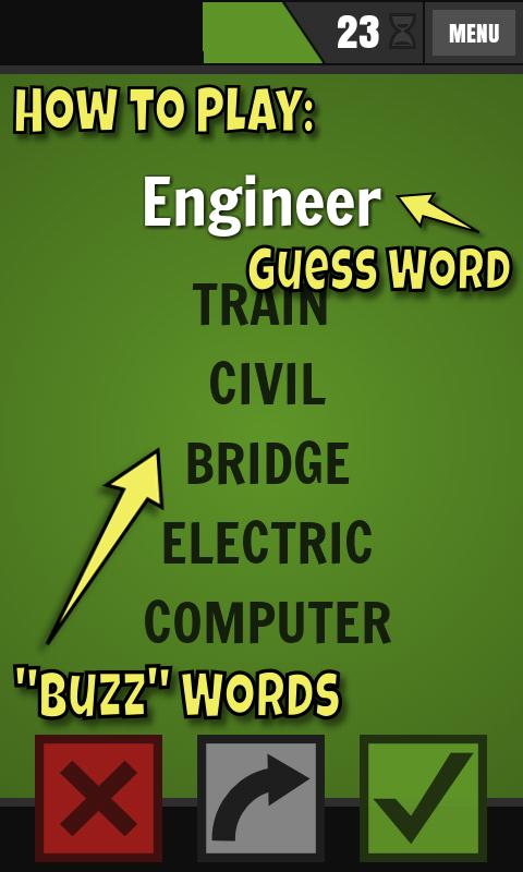 Buzzwords- screenshot