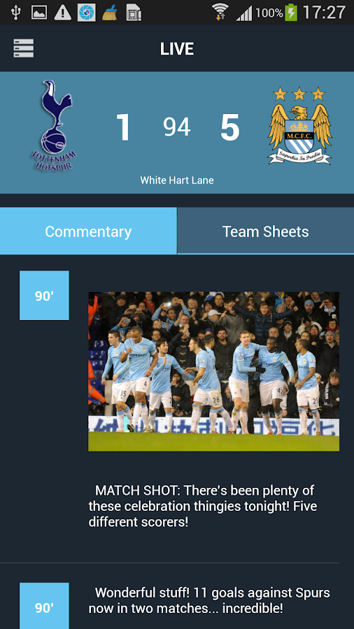CityApp - Manchester City FC - screenshot