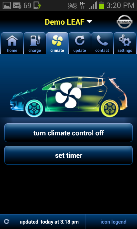 Nissan Canada LEAF - screenshot