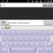 Simple Lavender! Keyboard Skin
