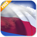 3D Poland Flag Live Wallpaper