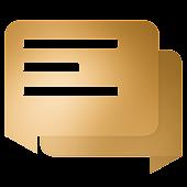 EvolveSMS Material Blur Orange