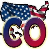 USA Colorado clock flag