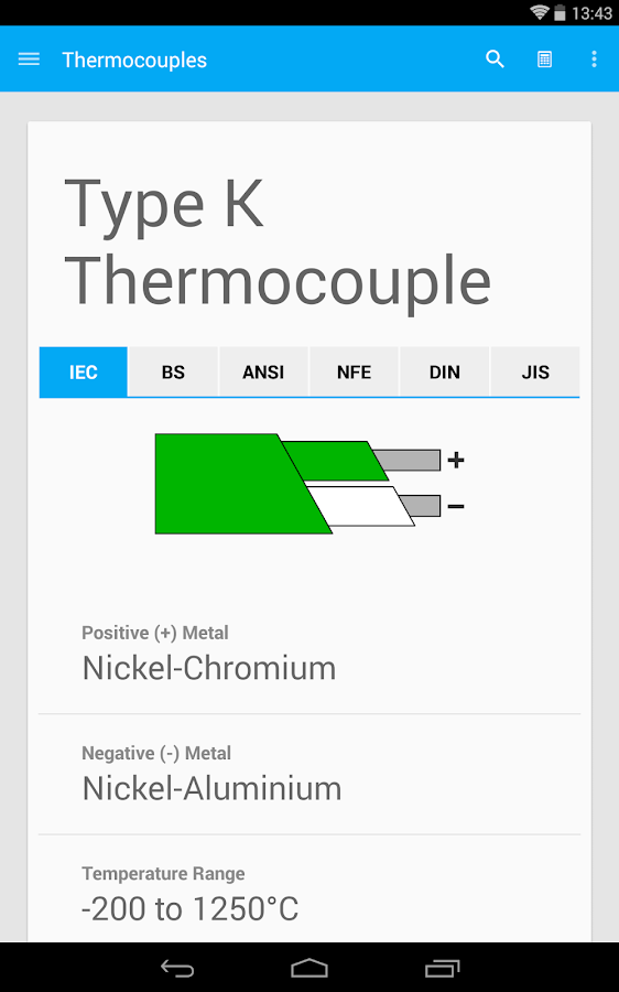 Thermocouples- screenshot