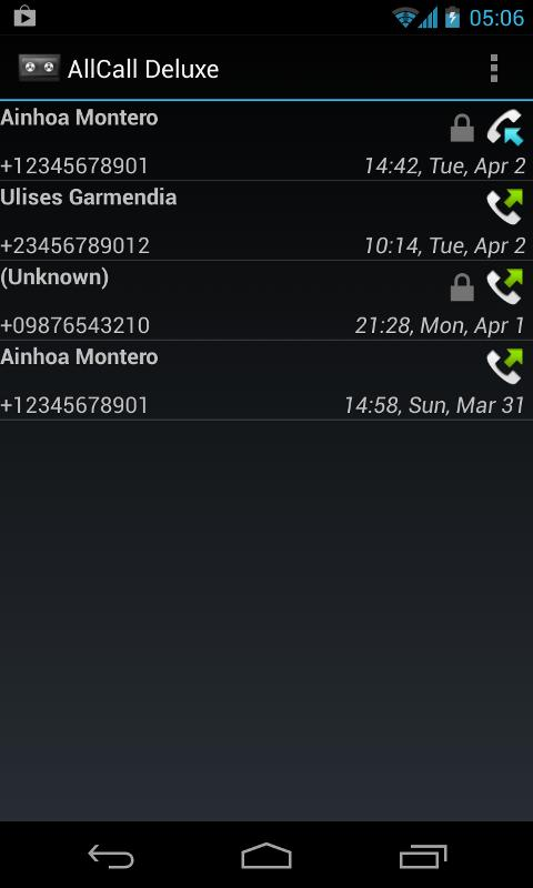 Screenshots of All Call Recorder for Android