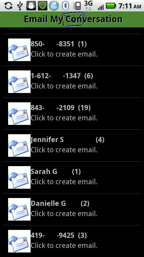 Email My Conversation - screenshot